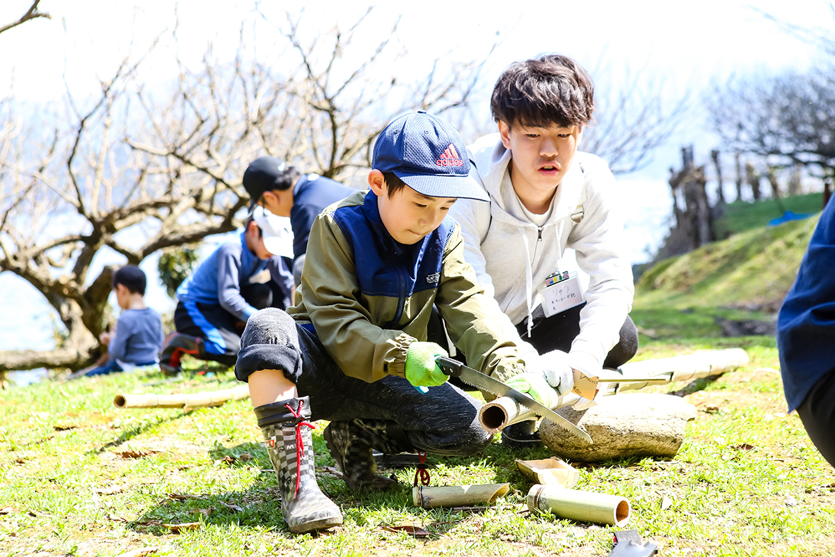 春の若狭路まるごとキャンプ 竹細工