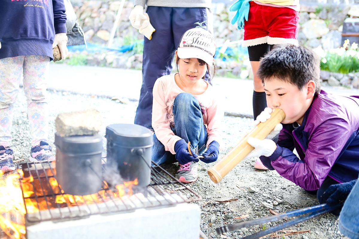 春の若狭路まるごとキャンプ 食事作り