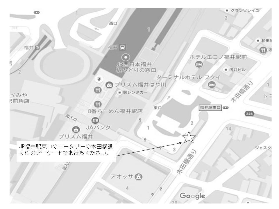 JR福井駅の地図